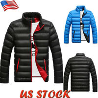 Mens Lightweight Quilted Padded Jacket Casual Puffer Bubble Down Coat Outwear US