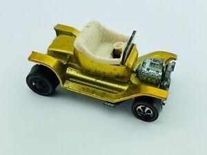 Hot Wheels Redline HOT HEAP Gold White Interior US VG/EX Very Nice !!!