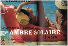 F- Publicité Advertising 1959 (2 pages) La Crème Ambre Solaire