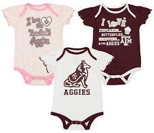 Outerstuff Ncaa Infant Girls Texas A&M Aggies Three Piece Creeper Set