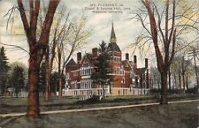 Mt Pleasant Iowa Wesleyan Chapel And Science Hall in Spring~1910 PC