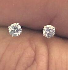 .925 Sterling Silver Stud Earrings  ~ 3mm Cz's w/Rubber Fasteners  $3.39 pr.