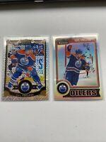 Nail Yakupov Opeechee Platinum Refractor Lot (2) Oilers Rainbow
