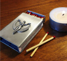 Moon Goddess Stainless Steel Match Box Cover, beautiful for rituals or as gift!