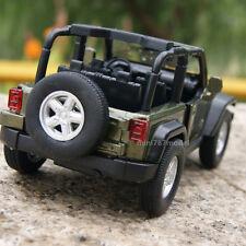 Jeep Wrangler 2007 Rubicon 1:32 Alloy Diecast Car Model Sound&Light Dark green