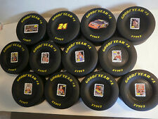 "Set of 12 Jeff Gordon Goodyear Tires NASCAR Race Tire Rubber 3.5"" X 1.5"" Eagle"