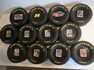 "Set of 12 Jeff Gordon Goodyear Tires NASCAR Race Tire Rubber 3.5"" X 1.5"" Eagle"