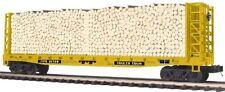 20-98895 Flat Car - w/Bulkheads & Log Load - Trailer Train - 3 rail 0 Scale size