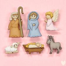 VAT Dress It up Christmas Nativity Scene 6 Buttons Craft Sew Knit 7473