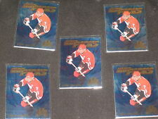 LOT (5) CHRIS PHILLIPS HOT PICK 1996 EDGE ICE CERTIFIED SIGNED AUTOGRAPHED CARD