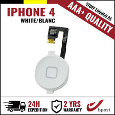 AAA+ Home Replacement Button Bouton Assembly & Flex Cable White For iPhone 4