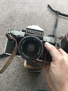 Praktica camera with Ricoh flash and case
