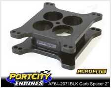 "Aeroflow High Velocity Carburettor Spacer 2""4150 Style Tapered Black AF64-2071BK"