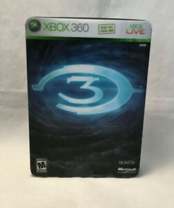 Halo 3 Limited Edition Microsoft Xbox 360 - NO GAME - CASE MANUAL ARTBOOK ONLY