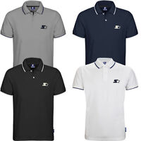 Starter Enhance Mens Short Sleeves Tipped Polo Shirts CPE00037 WH