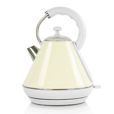 1.8L Cordless Jug Electric Pyramid Kettle Limescale Filter Fast Boil Ivory Cream