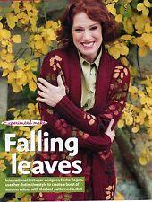 ~ Knitting Pattern For Lady's Stunning Leaf Motif Wrapover Tie-Belt Jacket ~