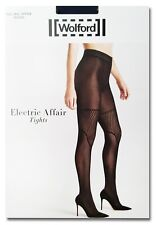 NEW NEU WOLFORD electric aff tight black Small 38/40 Uk10/12 US8/10 Strumpfhose