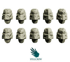 SPELLCROW Templars Knights Helmets BITS 28mm COMPATIBLE SPACE TABLETOP GAMES PDT
