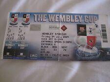 Celtic fc ticket stub - wembley cup 2009 - Celtic,tottenham,barcelona,Al Ahly