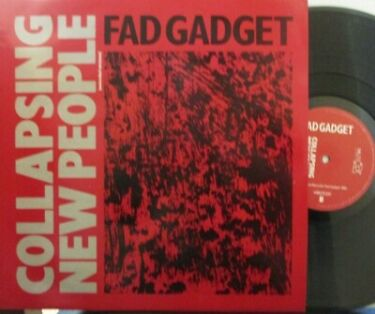 FAD GADGET  Collapsing New People  12 Single PS