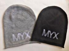 Lot of 2 MYX Toque Hat O/S Black & Gray Beanie Hats Run Gym Snow