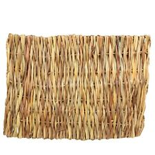 Small Grass Mat (28x21cm) Pet Rabbit Guinea Pig Hamster Natural Woven Straw Hay