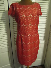 Beautiful Lace Overlay Dress, Berry Red, Fits like a size 12