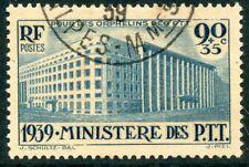 TIMBRE FRANCE OBLITERE N° 424 MINISTERE DES P.T.T COTE 22,50 €