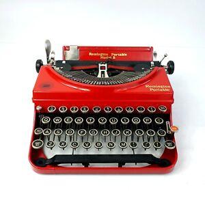 Remington Portable No 5 Typewriter - Custom Red Paint