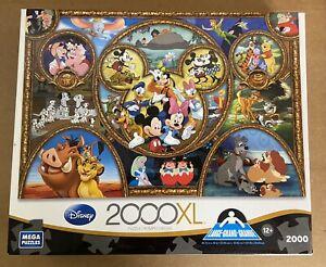 DISNEY CLASSICS Mega Puzzle 2000 xl Pc Jigsaw Mickey Simba Bambi Pooh