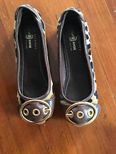 Car Shoe Loafers Size 36 Leopard Print Pony Hair
