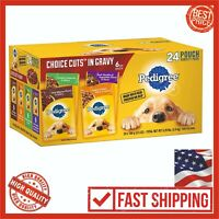 Pedigree Choice Cuts Gravy Adult Wet Dog Food Variety Pack 24 Pet Food Mix Pouch