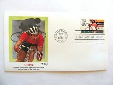 """November 4th, 1983 """"Cycling"""" First Day Issue Airmail"""
