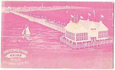HEINZ Pickle PIER Atlantic City NJ PINK Postcard Vintage Private Mailing Card
