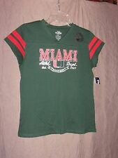 University of Miami Hurricanes Girls NWT Pro Edge Tee Shirt Size 14 / 16