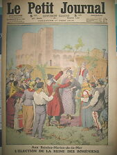 SAINTES-MARIES-DE-LA-MER ELECTION REINE DES BOHEMIENS LE PETIT JOURNAL 1913