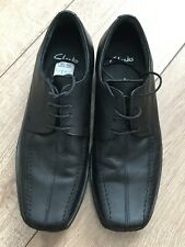 Clarks Mens Black Leather Lace Up Loafers Size 7 BNWOB L@@K Free P&P