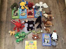 Deagostini My Animal Kingdom Books & Extra Soft Toys Animals Plush Bundle Joblot