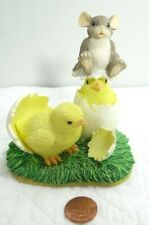 Charming Tails What's Hatchin Mouse Chicks Cracked Eggs 88/600 Spring Easter