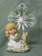 Christening/Communion Collectible Iron-wired Cross/Praying Girl (742G) Lot of 6