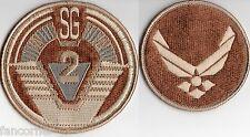 Stargate sg1 lot 2 ecussons SG2 et USAF version desert stargate team patch lot