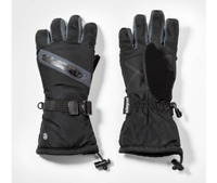 C9 Champion Boys' Solid with Zipper Pocket Gloves Black Size 4-7