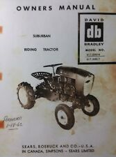 Sears David Bradley Suburban Riding Tractor & Implements Owner & Parts(5 Manuals