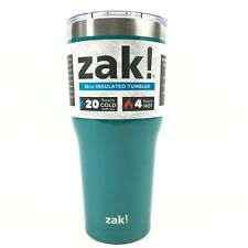 Zak Insulated Tumbler Hot And Cold Stainless Steel 30oz Aqua Green