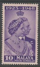 Negeri Sembilan 10c Royal Silver Wedding 1948 Mnh # E 110