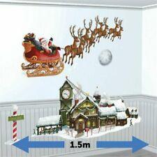 Christmas Santa's Sleigh & Workshop Scene Setter - 1.5m