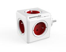 Allocacoc PowerCube Original RED Type E Socket Multiplier PowerStrip 5 sockets
