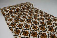 9,2m 70er Vintage Stoff Gardine Stoffballen Meterware Dekostoff Fabric 60s NOS