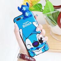 Cute Cartoon Stitch Winnie 3D Phone Case Silicone Cover For iPhone X 8 7 6S Plus